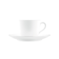 WAGENFELD PLATIN Coffee cup, Saucer | Dinnerware | FÜRSTENBERG