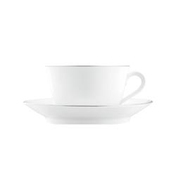 WAGENFELD PLATIN Breakfast cup, Saucer | Dinnerware | FÜRSTENBERG
