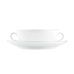 WAGENFELD PLATIN Soup cup, Saucer | Dinnerware | FÜRSTENBERG