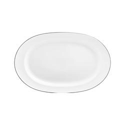 WAGENFELD SCHWARZE LINIE Platte oval | Geschirr | FÜRSTENBERG