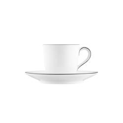 WAGENFELD SCHWARZE LINIE Espresso cup, Saucer | Dinnerware | FÜRSTENBERG