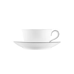 WAGENFELD SCHWARZE LINIE Cappuccino cup, Saucer | Dinnerware | FÜRSTENBERG