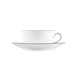 WAGENFELD SCHWARZE LINIE Tea cup, Saucer | Dinnerware | FÜRSTENBERG