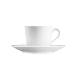 WAGENFELD WEISS Coffee cup, saucer | Dinnerware | FÜRSTENBERG