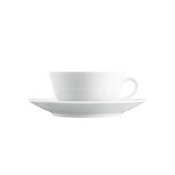 WAGENFELD WEISS Tea cup, Saucer | Dinnerware | FÜRSTENBERG