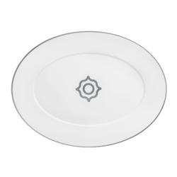 CARLO PLATINO Platte oval | Geschirr | FÜRSTENBERG