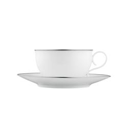 CARLO PLATINO Tea cup, saucer | Dinnerware | FÜRSTENBERG