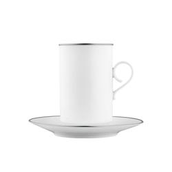CARLO PLATINO Hot chocolate cup, saucer | Dinnerware | FÜRSTENBERG
