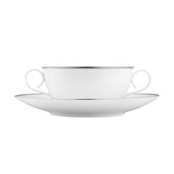 CARLO PLATINO Soup cup, saucer | Dinnerware | FÜRSTENBERG