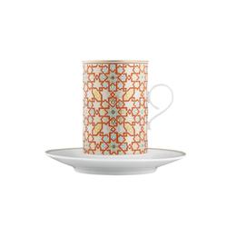 CARLO RAJASTHAN Hot chocolate cup, saucer | Dinnerware | FÜRSTENBERG