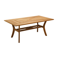 Halifax 42in x 77in 6-Seater Table | Tables à manger de jardin | Gloster Furniture
