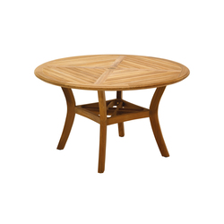 Halifax 54in 4-Seater Round Table | Tables à manger de jardin | Gloster Furniture GmbH