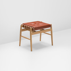 Leather stool | Otomanas | H Furniture