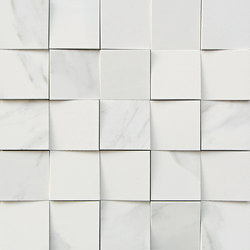 Mosaico 3D Bianco Statuario JW 01 | Ceramic tiles | Mirage