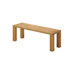 Square 131cm Backless Bench | Bancs de jardin | Gloster Furniture