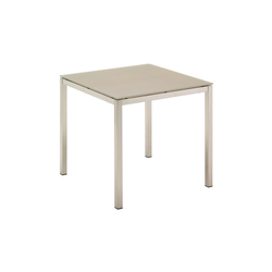 Kore 80 cm Square Table | Tables à manger de jardin | Gloster Furniture