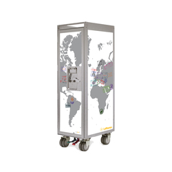 bordbar silver edition lufthansa passport white | Teewagen / Barwagen | bordbar