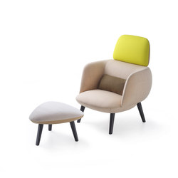 Betty High Armchair and Pouf | Lounge chairs | Maxdesign