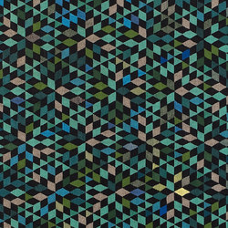 Triangles Diamond apple green | Rugs / Designer rugs | GOLRAN 1898