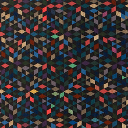 Triangles Diamond black | Rugs / Designer rugs | GOLRAN 1898