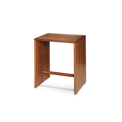 Bill | Ulmer Stool Walnut | Mesas auxiliares | wb form ag