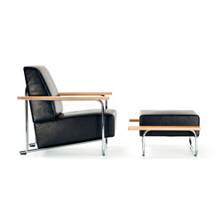 Lovell Easy Chair Ottomane Steel | Armchairs | VS