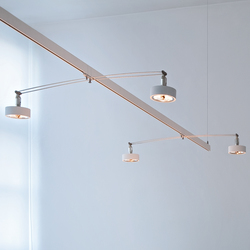 suspended lighting. unique suspended balance 50  track lighting buschfeld design with suspended lighting