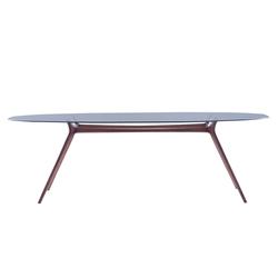 Esstische restauranttische tische ying tisch lasfera for Tisch design oval
