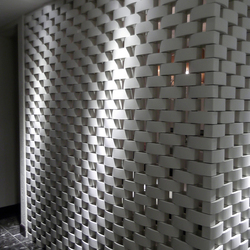 Ceramic screen in-situ | Pareti divisorie ufficio | Kenzan
