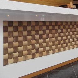 Ichimatsu MA-A Wood in-situ | Wall tiles | Kenzan