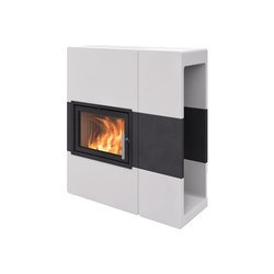 Stockholm Waxed Concrete with shelf | Wood burning stoves | Nordpeis