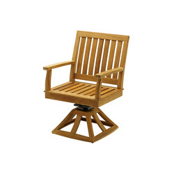 Cape Swivel Rocker Dining Chair with Arms | Gartensessel | Gloster Furniture