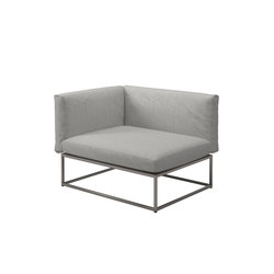 Cloud 75x100 Left End Unit | Garden armchairs | Gloster Furniture