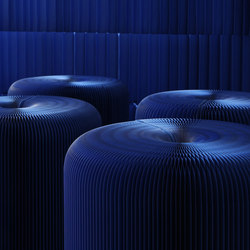softseating | indigo blue paper softseating | Poufs | molo