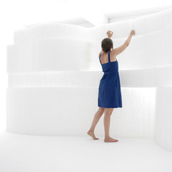 softblock | white textile | Space dividers | molo