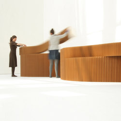 softblock | natural brown paper | Raumteilsysteme | molo