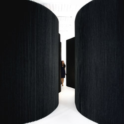 softwall | black textile | Sistemi divisori stanze | molo