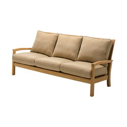Kingston Deep Seating 3-Seater Sofa | Gartensofas | Gloster Furniture