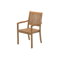 Kingston Stacking Chair with Arms | Sièges de jardin | Gloster Furniture