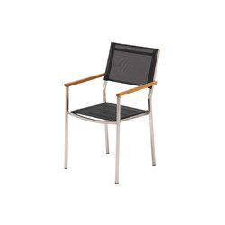 Vigo Stacking Chair with Arms | Garden chairs | Gloster Furniture