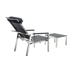 Allure Deck Chair and Footstool | Fauteuils de jardin | solpuri
