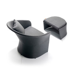 Diva Lounge Chair and Footstool | Garden armchairs | solpuri