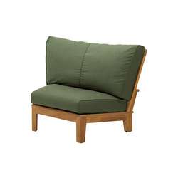 Ventura Deep Seating Sectional Wedge End Unit | Garden armchairs | Gloster Furniture