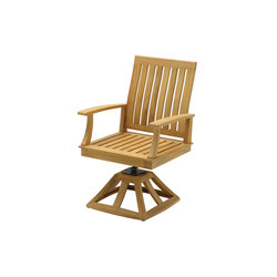 Ventura Swivel Rocker Dining Chair with Arms | Garden armchairs | Gloster Furniture