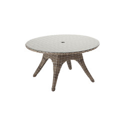 Sunset 54.5in Round 5-Seater Table | Tables à manger de jardin | Gloster Furniture