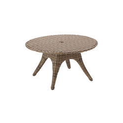 Sunset 54.5in Round 5-Seater Table | Mesas de comedor de jardín | Gloster Furniture