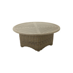 Sunset Round Conversation Table | Tavoli bassi da giardino | Gloster Furniture