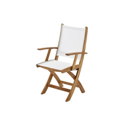 Solana Folding Chair with Arms | Sillas de jardín | Gloster Furniture