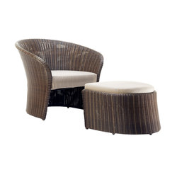 Primadonna Lounge Chair and Footstool | Poltrone da giardino | solpuri