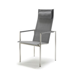 Pure Stainless Steel Recliner, high back | Garden chairs | solpuri